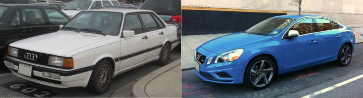 6) Audi-4000s:Volvo-S60-R